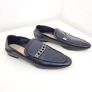 Zara black loafers shoes size 37 or 7 flats